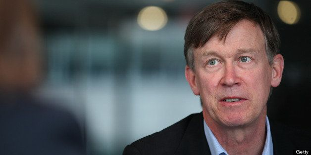 John Hickenlooper, governor of Colorado, speaks during an interview in Washington, D.C., U.S., on Wednesday, June 19, 2013. '