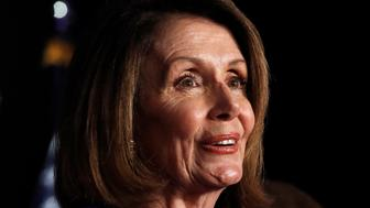 House Minority Leader Nancy Pelosi of Calif., speaks about Democratic gains in the House of Representatives to a crowd of Democratic supporters during an election night returns event at the Hyatt Regency Hotel, on Tuesday, Nov. 6, 2018, in Washington. (AP Photo/Jacquelyn Martin)