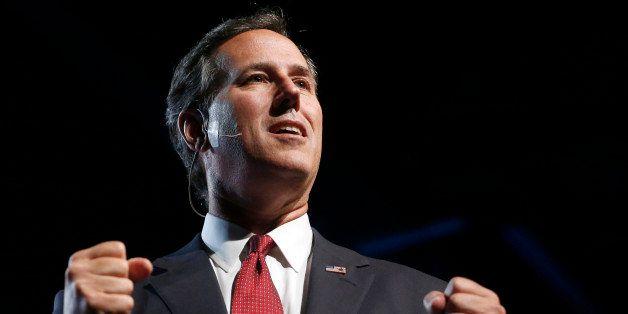 Republican presidential candidate, former Pennsylvania Sen. Rick Santorum, speaks during the Western Conservative Summit in D