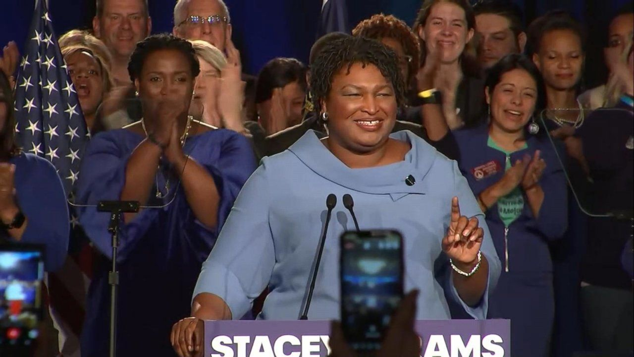 During her speech, Abrams promised that every vote would will be counted.
