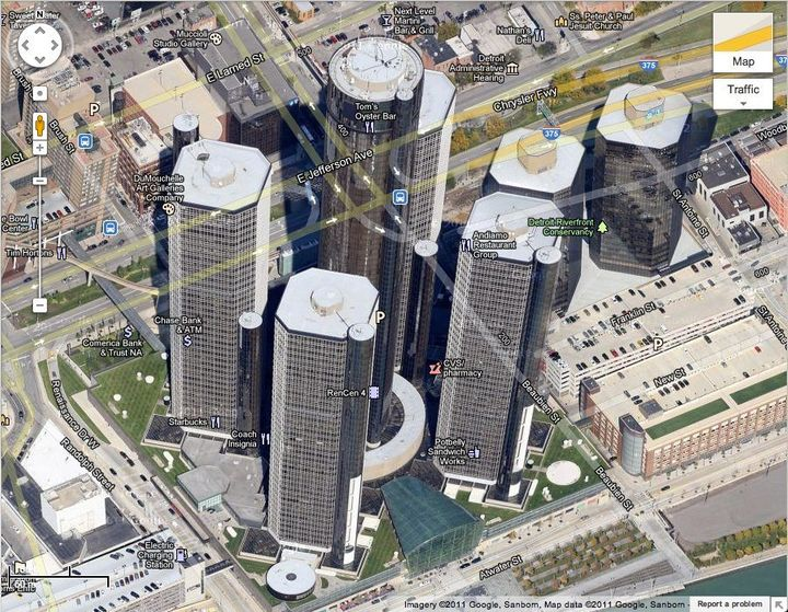 Google Maps Now Has 45 Degree Images Of Detroit | HuffPost