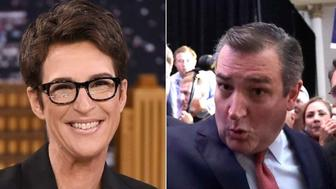 Rachel Maddow and Ted Cruz