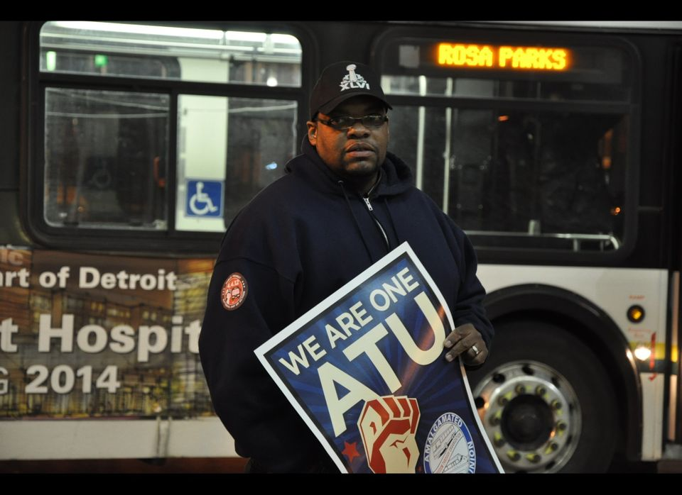 Amalgamated Transit Union worker Shaun Jordan said he was at the National Day of Action for Public Transportation to support