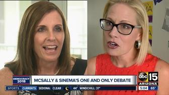 Senate candidates Martha McSally and Kyrsten Sinema are set to debate Monday night.