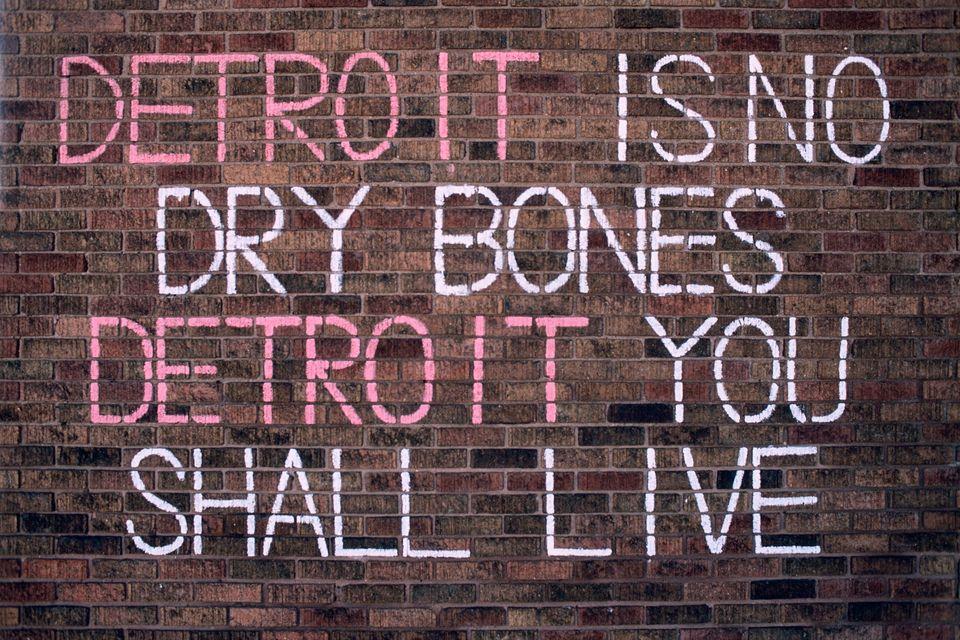 """'Detroit Is No Dry Bones,' Ruth Chapel AME Church,"" 2012 East Kirby Street at Baldwin Street Photo by Camilo Jose Vergara"
