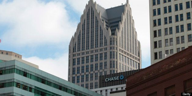 JPMorgan & Chase Co. offices stands in the skyline of Detroit, Michigan, U.S., on Thursday, Feb. 21, 2013. A fiscal emergency