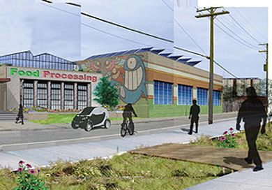 This rendering shows how RecoveryPark food processing center might appear.