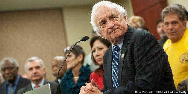 UNITED STATES - NOVEMBER 30: Rep. Sander Levin, D-Mich., speaks at a press conference with House Ways and Means Committee Dem