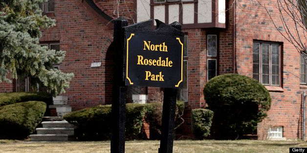 A North Rosedale Park sign stands in front of a home in Detroit, Michigan, U.S., on Monday, April 1, 2013. Flawed appraisals
