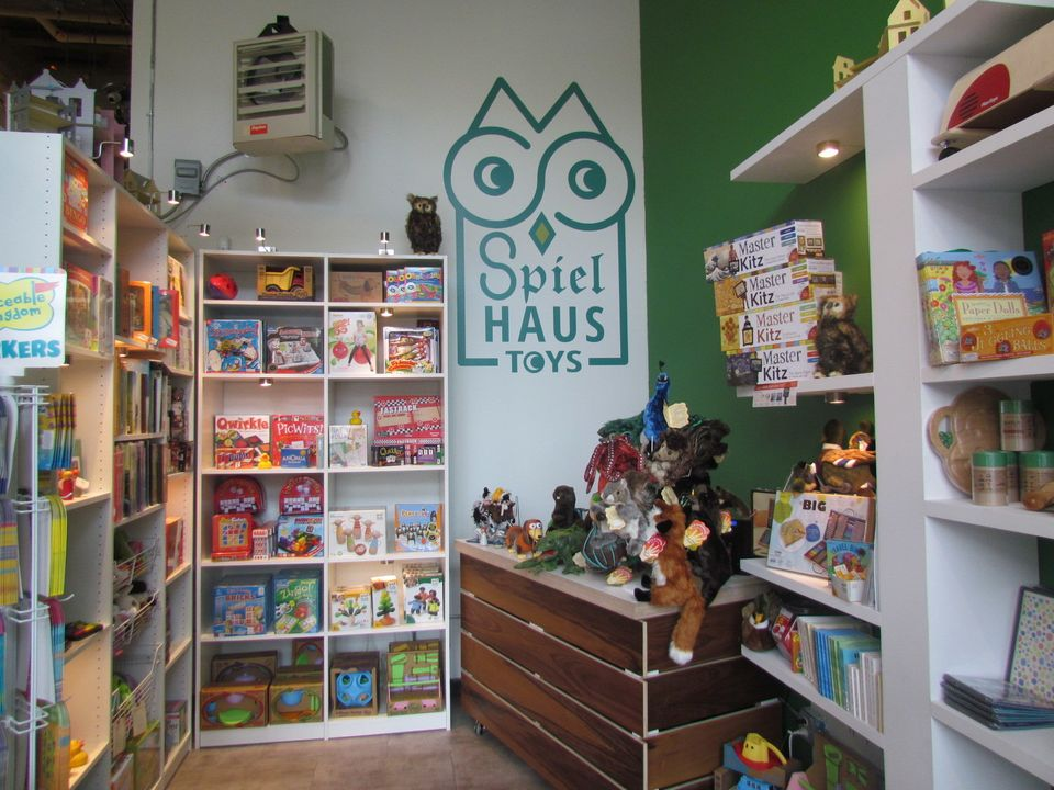 Spielhaus Toys is a pop-up that opened in downtown Detroit in October for the holidays. Though small, it's crammed full of to