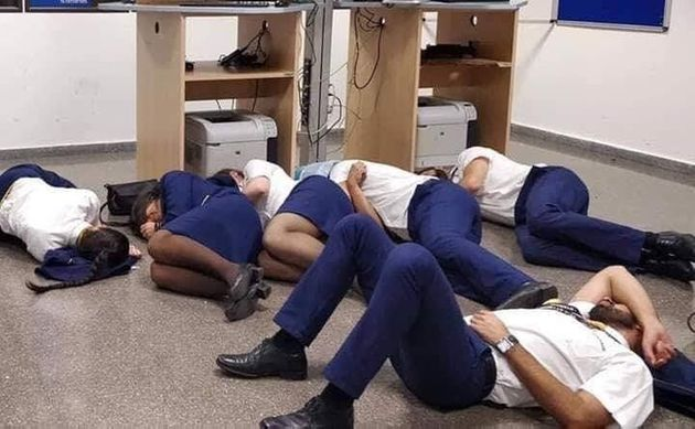 Ryanair Sacks Staff For 'Staged' Sleeping Photograph In