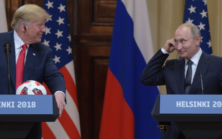 Trump and Putin met in Helsinki in July of this year.
