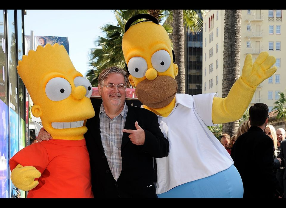 "A ceremony to award Matt Groening, creator of ""The Simpsons,"" a star on the Hollywood Walk of Fame in Los Angeles, Tuesday, F"