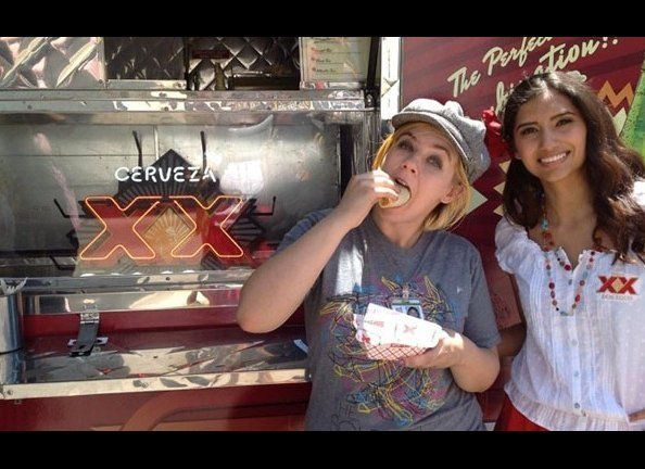 NOW TIL MAY 5: Six taco trucks are on the loose, serving a smorgasbord of strange across the country. And in LA, Dos Equis ha