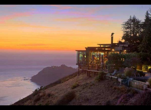 "<strong>Big Sur</strong> -- On a cliff 1,200 feet above the Pacific, the <a href=""http://www.mrandmrssmith.com/us/luxury-hote"