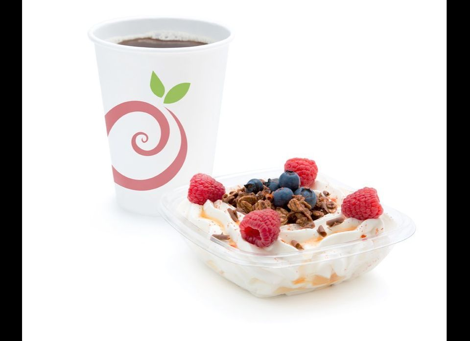 Pinkberry's new coffee and Greek yogurt.