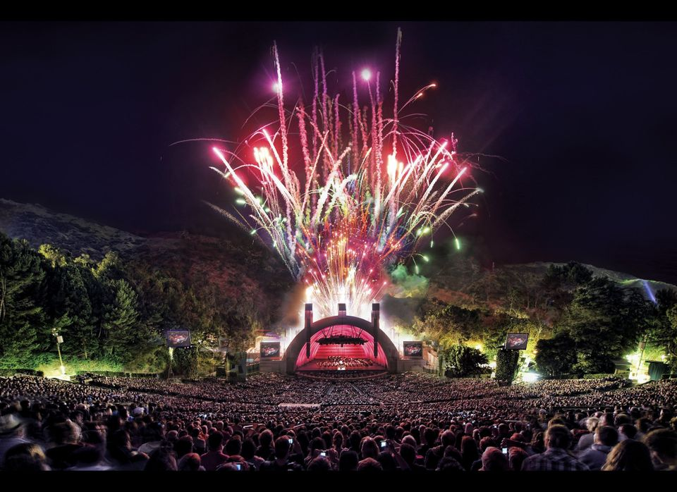 You can get a fireworks fix nearly every weekend at the Hollywood Bowl, where the programming is extremely family-friendly th