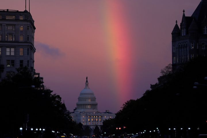 On Election Day, a rainbow formed over the U.S. Capitol in Washington. The midterms have been a momentous victory for America