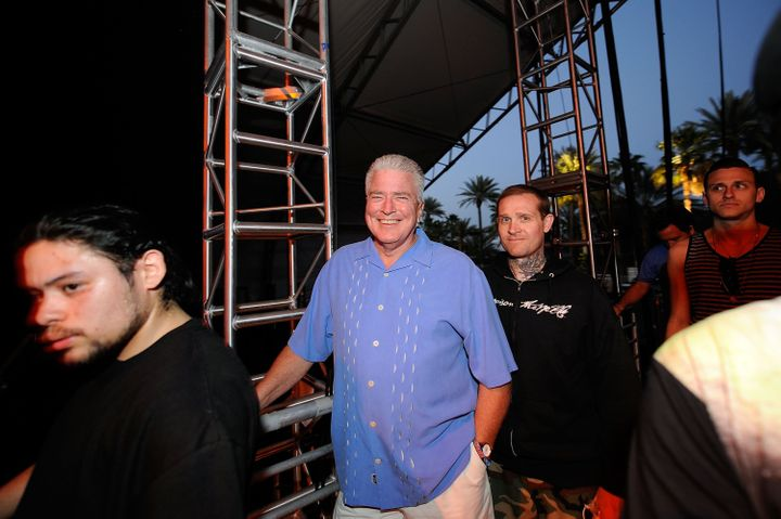 INDIO, CA - APRIL 25:  TV personality Huell Howser during day 1 of the Coachella Valley Music and Arts Festival at the Empire