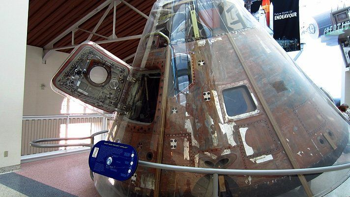Before you begin your Endeavour experience, don't miss the remarkable trio of NASA space capsules in the Air and Space Galler
