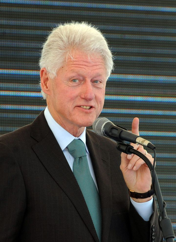 Former US President Bill Clinton speaks on February 21, 2013 during the inauguration ceremony for the first phase of the Eko