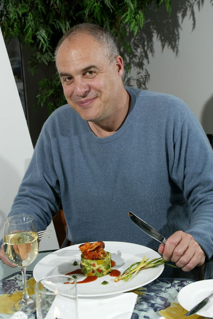 Mark Bittman well-known New York cookbook author, restaurant critic, food writer in the Studio Cafe at the Four Seasons Hotel
