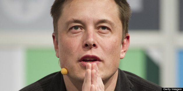 Elon Musk, chief executive officer of Tesla Motors Inc. and Space Exploration Technologies Inc., speaks during an interview a
