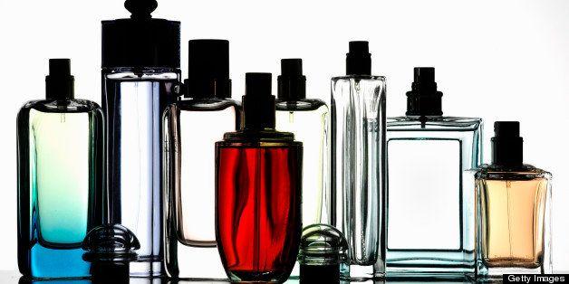 Bottles of fragrances
