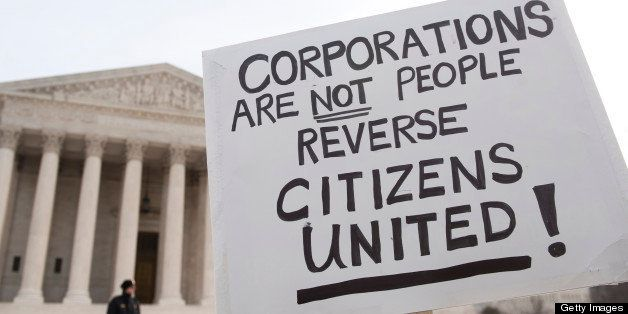 UNITED STATES ? JANUARY 20: Move to Amend holds a rally at the Supreme Court to 'Occupy the Courts' and mark the second anniv
