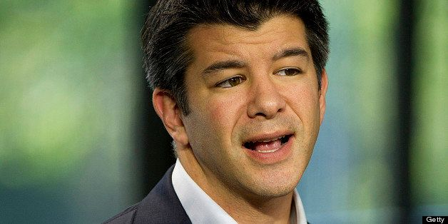 Travis Kalanick, chief executive officer at Uber Technologies Inc., speaks during a Bloomberg West television interview in Sa