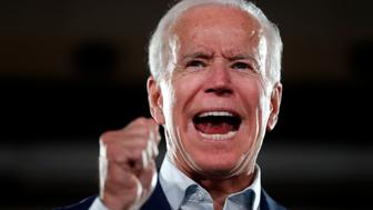 Former Vice President Joe Biden speaks as he appears at a campaign rally for incumbent Sen. Claire McCaskill, D-Mo., Wednesday, Oct. 31, 2018, in Bridgeton, Mo. McCaskill is running for re-election. (AP Photo/Jeff Roberson)