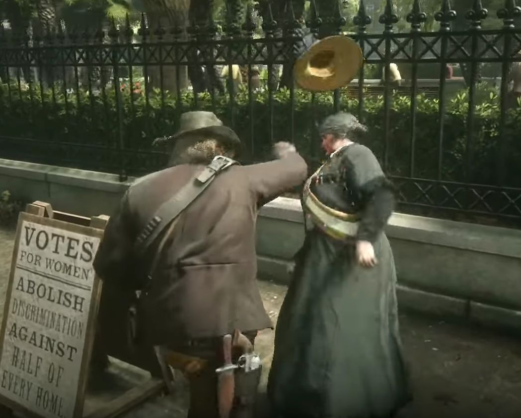 YouTube Removes Violent 'Red Dead Redemption 2' Suffragette Videos... Then Re-Adds