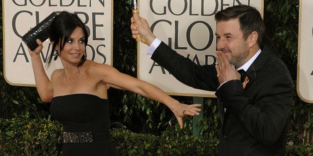 Courteney Cox, left, and David Arquette arrives at the at the 67th Golden Globes Awards  January 17, 2010, in Beverly Hills,