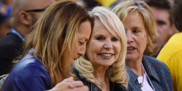 OAKLAND, CA - APRIL 27:  Shelly Sterling (C), the wife of Donald Sterling owner of the Los Angeles Clippers, watches the Clip
