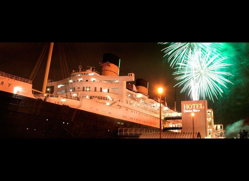 The Queen Mary in Long Beach hosts its annual New Year's Eve party. Your ticket will give you access to the ship's five parti