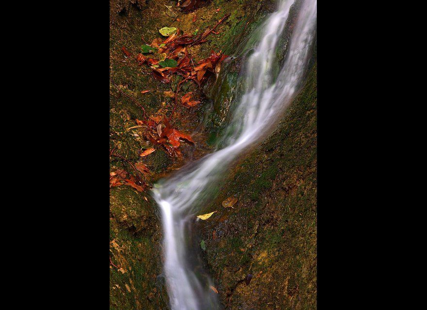 """The 150-foot waterfall at <a href=""""http://www.lamountains.com/parks.asp?parkid=12"""" target=""""_hplink"""">Escondido Falls</a> or th"""