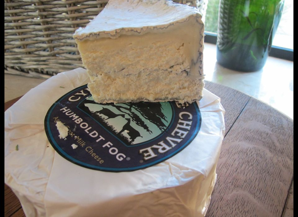 """The Humboldt Fog is a tribute to classic French goat cheese-making. It's soft ripening from the outside inward and it has th"
