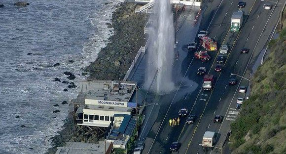 PCH Geyser: Sheared Fire Hydrant Creates 50 Foot Geyser   HuffPost