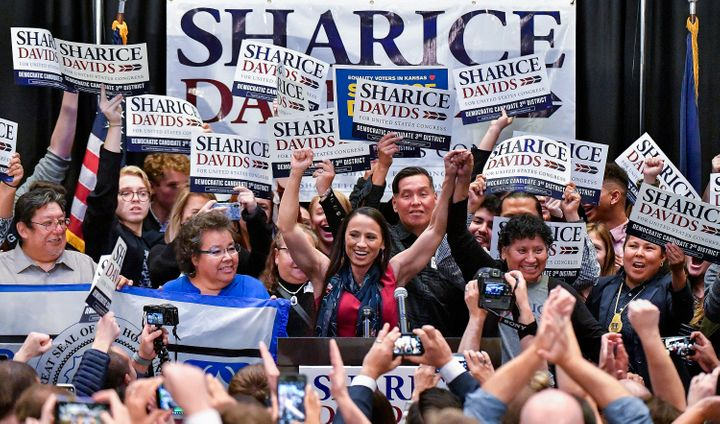 Sharice Davids of Kansas was one of more than 30 Democrats on Tuesday to win a House seat formerly held by a Republican. She