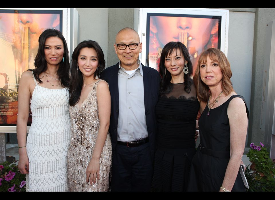 Producer Wendi Murdoch, Actress Li BingBing, Director Wayne Wang, Producer Florence Sloan and Author Lisa See  Photo by Eri