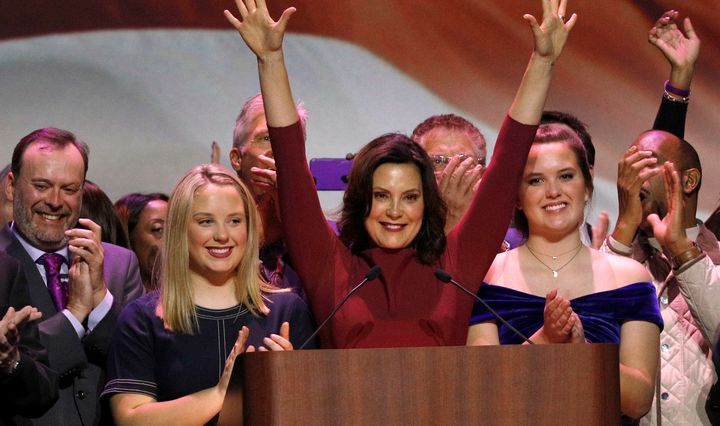 Democrat Gretchen Whitmer won her race Tuesday night for governor of Michigan, a state that President Donald Trump won in 201