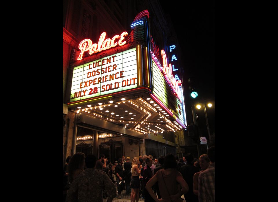 A sold-out crowd filled downtown's newly restored Palace Theatre.
