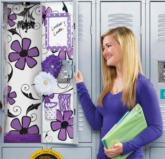 Forget just stuffing your locker with a sticky sweatshirt and boring textbooks. From wallpaper to a hanging chandelier, now y