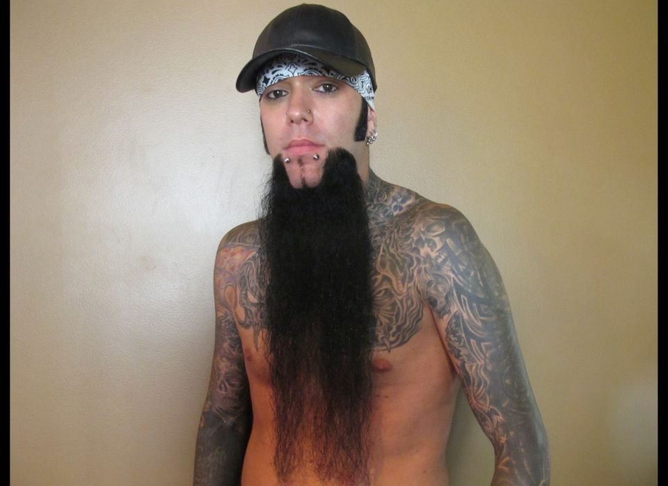 """Noel entered in the """"Partial Beard"""" contest and ended up winning second place in his division."""
