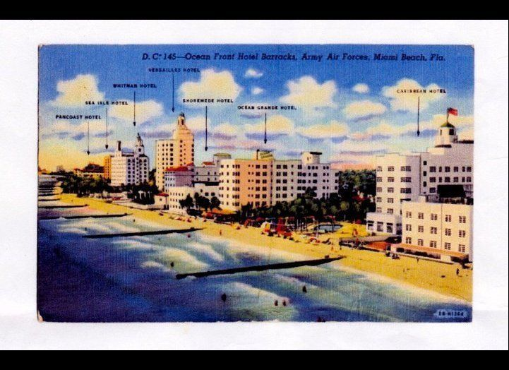 An old postcard features the Ocean Grande Hotel.