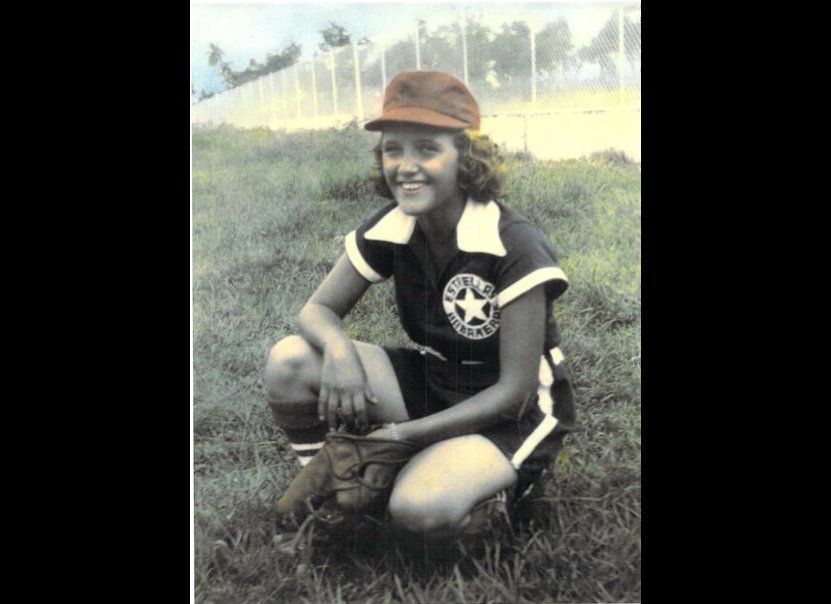 A photo of Kinney while playing baseball in Cuba.