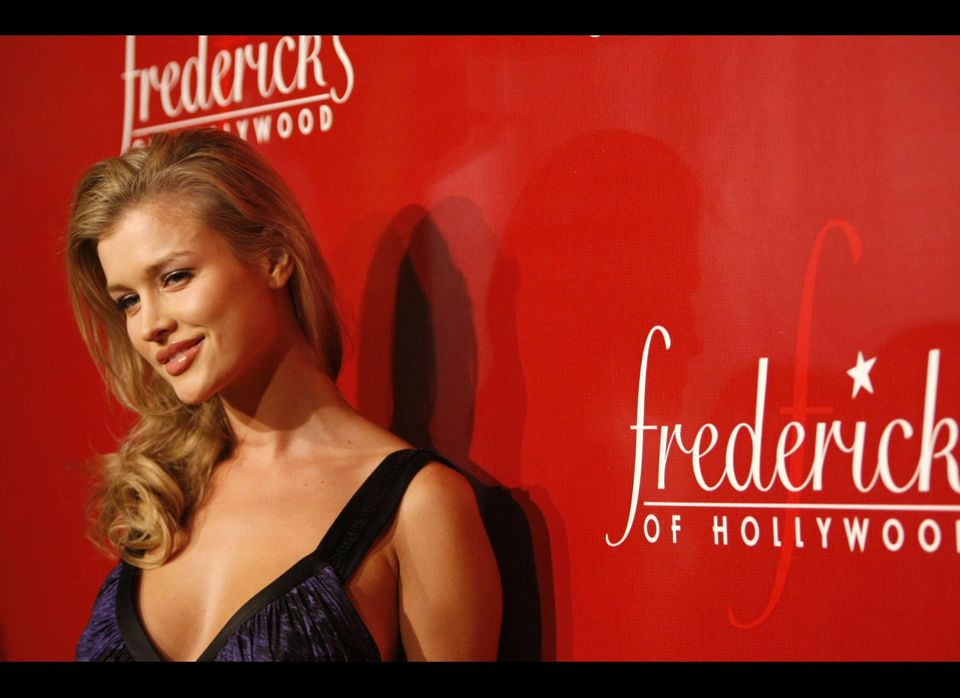 LOS ANGELES, CA - OCTOBER 24:  Model Joanna Krupa arrives at the Frederick's of Hollywood Fall 2007 Collection debut at the P