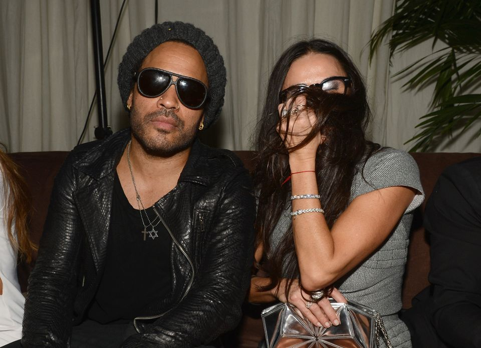 MIAMI BEACH, FL - DECEMBER 05:  Musician Lenny Kravitz and actress Demi Moore attend a Beachside Barbecue presented by CHANEL
