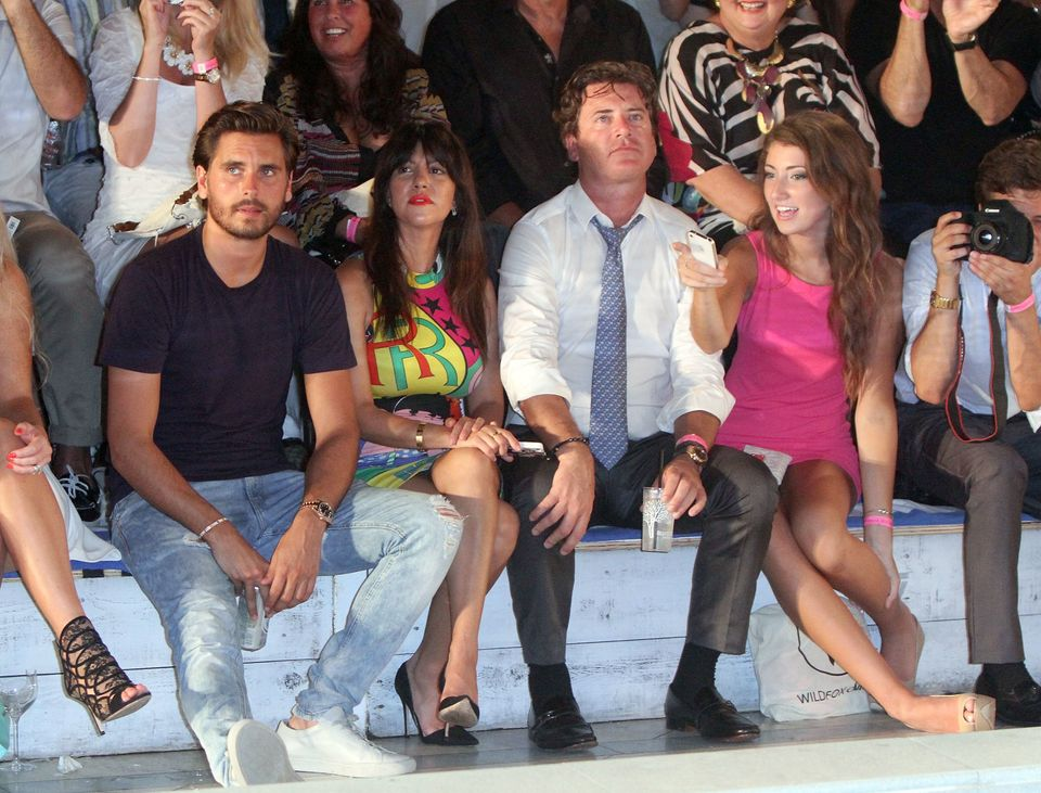 MIAMI BEACH, FL - JULY 21:  (L-R) TV personalities Scott Disick and Kourtney Kardashian along with Wildfox CEO and President