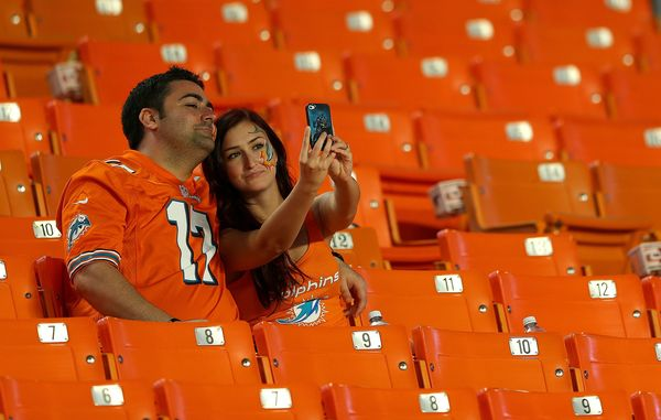 Some people went as empty seats.  (Photo by Mike Ehrmann/Getty Images)